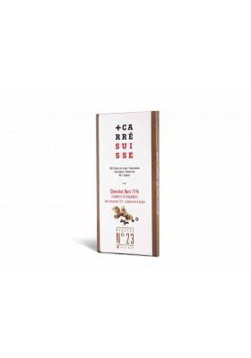 Chocolate negro 71% arándanos rojos & jengibre
